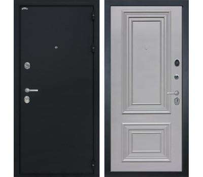 Входная стальная дверь Интекрон Колизей Сан Ремо 2 (Черный шелк / Пыльно-серый RAL 7037)