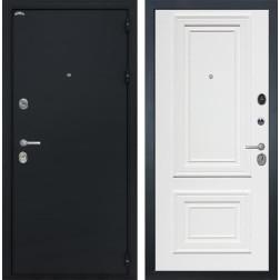 Входная дверь Интекрон Колизей Сан Ремо 1 (Чёрный шелк / Сигнальный белый RAL 9003)