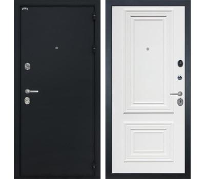 Входная стальная дверь Интекрон Колизей Сан Ремо 1 (Черный шелк / Сигнальный белый RAL 9003)