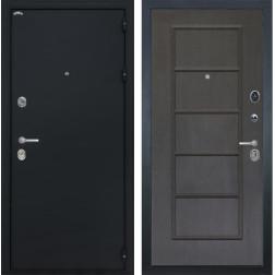 Входная стальная дверь Интекрон Колизей ФЛ-39 (Чёрный шелк / Орех премиум)