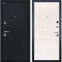 Входная стальная дверь Интекрон Колизей (Чёрный шелк / Дуб Сильвер)