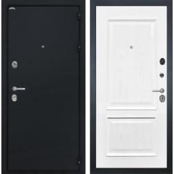 Входная дверь Интекрон Греция Валентия-4 Шпон (Чёрный шелк / Ясень жемчуг)