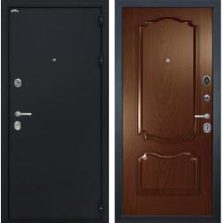 Входная дверь Интекрон Греция Позитано Шпон (Черный шелк / Дуб бургундский)