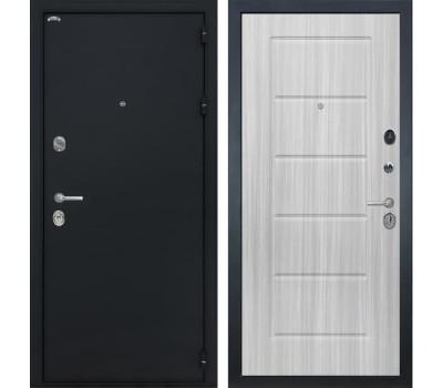 Входная металлическая дверь Интекрон Греция ФЛ-39 (Чёрный шелк / Сандал белый)