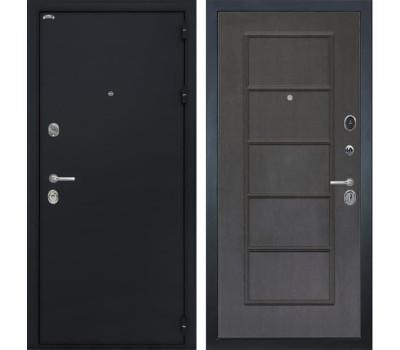 Входная металлическая дверь Интекрон Греция ФЛ-39 (Чёрный шелк / Орех премиум)