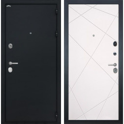 Входная металлическая дверь Интекрон Греция Лучи-М (Чёрный шелк / Софт Милк)