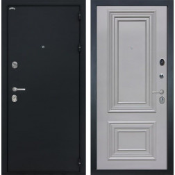 Входная дверь Интекрон Греция Сан Ремо 2 (Чёрный шелк / Пыльно-серый RAL 7037)
