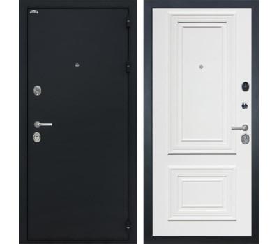 Входная стальная дверь Интекрон Греция Сан Ремо 1 (Чёрный шелк / Сигнальный белый RAL 9003)