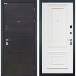 Входная дверь Интекрон Сицилия Сан Ремо 1 (ЭкоВенге / Сигнальный белый RAL 9003)
