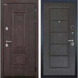 Входная металлическая дверь Интекрон Италия ФЛ-39 (Венге / Орех премиум)