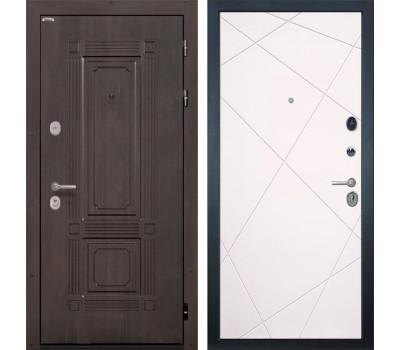 Входная металлическая дверь Интекрон Италия Лучи-М (Венге / Софт Милк)