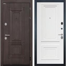 Входная дверь Интекрон Италия Сан Ремо 1 (Венге / Сигнальный белый RAL 9003)