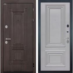 Входная металлическая дверь Интекрон Италия Сан Ремо 2 (Венге / Пыльно-серый RAL 7037)
