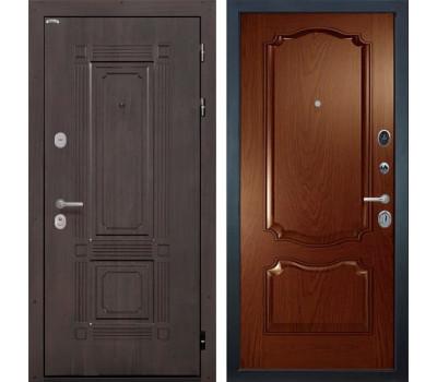 Входная металлическая дверь Интекрон Италия Позитано Шпон (Венге / Дуб бургундский)