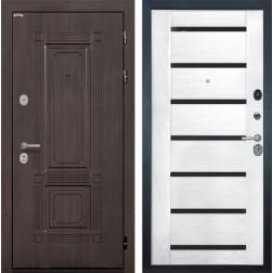 Входная дверь Интекрон Италия Фоджа Багет Шпон (Венге / Ясень жемчуг)
