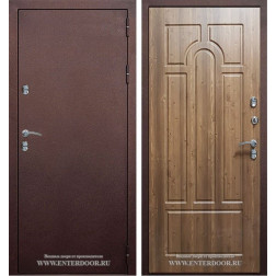 Входная уличная дверь Урал с терморазрывом (Антик медный / Орех кантри)