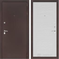 Входная дверь Лабиринт Классик 6 (Антик медный / Белое дерево)