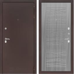 Входная дверь Лабиринт Классик 6 (Антик медный / Сандал серый)