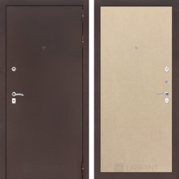 Входная дверь Лабиринт Классик 5 (Антик медный / Венге светлый)