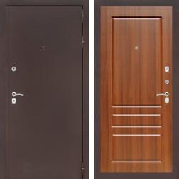Входная дверь Лабиринт Классик 3 (Антик медный / Орех бренди)