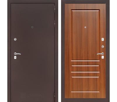 Входная металлическая дверь Лабиринт Классик 3 (Антик медный / Орех бренди)