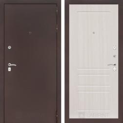 Входная дверь Лабиринт Классик 3 (Антик медный / Сандал белый)