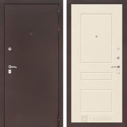 Входная металлическая дверь Лабиринт Классик 3 (Антик медный / Крем софт)