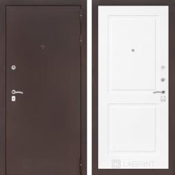 Входная дверь Лабиринт Классик 11 (Антик медный / Белый софт)