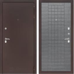 Входная дверь Лабиринт Классик 9 (Антик медный / Лен сильвер грей)
