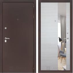 Входная дверь Лабиринт Классик Зеркало (Антик медный / Акация светлая)