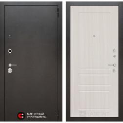 Входная дверь Лабиринт Сильвер 3 (Антик темное серебро / Сандал белый)
