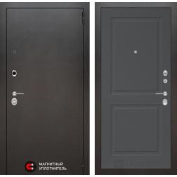 Входная дверь Лабиринт Сильвер 11 (Антик темное серебро / Графит софт)