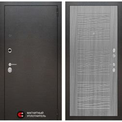 Входная дверь Лабиринт Сильвер 6 (Антик темное серебро / Сандал серый)