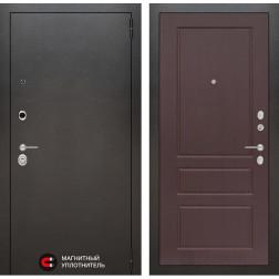 Входная дверь Лабиринт Сильвер 3 (Антик темное серебро / Орех премиум)