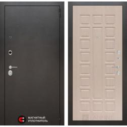 Входная дверь Лабиринт Сильвер 4 (Антик темное серебро / Дуб беленый)