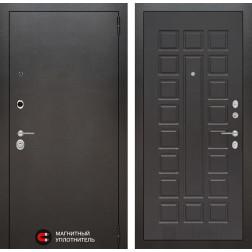Входная дверь Лабиринт Сильвер 4 (Антик темное серебро / Венге)