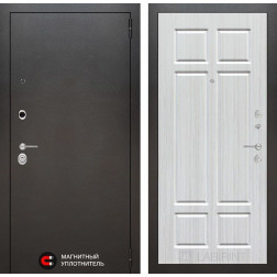 Входная дверь Лабиринт Сильвер 8 (Антик темное серебро / Кристалл Вуд)