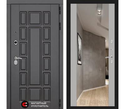 Входная дверь Лабиринт Нью-Йорк с Зеркалом Максимум (Венге / Софт Грей)