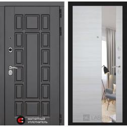 Входная дверь Лабиринт Нью-Йорк с зеркалом (Акация светлая горизонтальная)