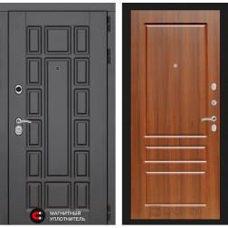 Входная металлическая дверь Лабиринт Нью-Йорк 3 (Орех бренди)