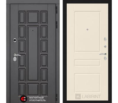 Входная металлическая дверь Лабиринт Нью-Йорк 3 (Венге / Крем софт)