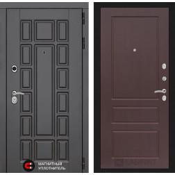 Входная металлическая дверь Лабиринт Нью-Йорк 3 (Орех премиум)