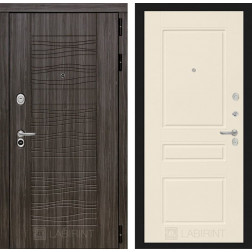 Входная дверь Лабиринт Сканди 3 (Дарк Грей / Крем софт)
