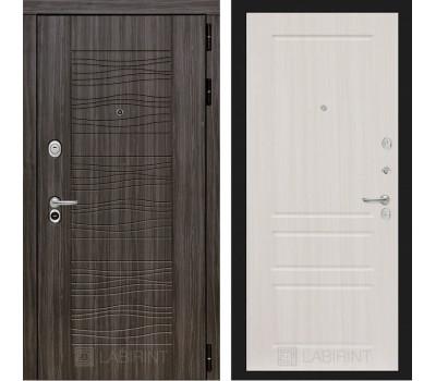 Входная металлическая дверь Лабиринт Сканди 3 (Дарк Грей / Сандал белый)