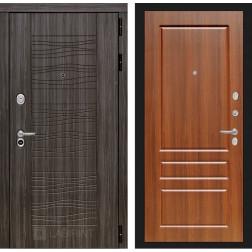 Входная дверь Лабиринт Сканди 3 (Дарк Грей / Орех бренди)