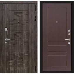 Входная дверь Лабиринт Сканди 3 (Дарк Грей / Орех премиум)