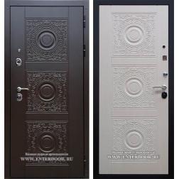 Входная дверь Богема 3D с цилиндром Cisa (Венге / Дуб беленый)