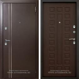 Дверь с терморазрывом АСД 3К Арктика (Муар коричневый / Орех премиум)