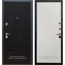 Входная металлическая дверь Армада Тетрис (Черный ясень / Роял Вуд белый)