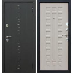 Входная дверь АСД Агата-3 (Муар чёрный / Белёный дуб)